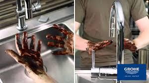 grohe minta kitchen faucet grohe minta touch kitchen mixer youtube