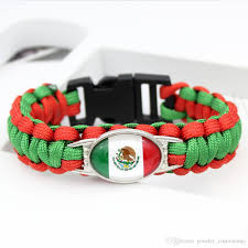survival bracelet styles images Mexico world cup flag paracord survival bracelets world cup soccer jpg