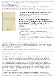 a multiple imputation based approach to sensitivity analyses and
