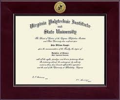 virginia tech diploma frame virginia tech hokies diploma frame 222518