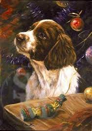 springer spaniel christmas cards in dog greetings cards labrador