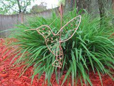 Hummingbird Garden Decor Hummingbird And Flowers Garden Decor Metal Wall Art By Jnj