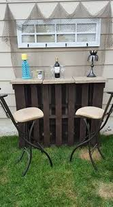 Pallet Furniture Bar Pallet Outdoor Bar With Table Pallet Ideas Recycled Upcycled
