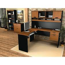 Bestar Corner Desk Innova Contemporary L Shaped Desk With Hutch Bookcase And Filing
