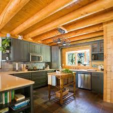 black kitchen cabinets in log cabin small log cabin kitchens houzz