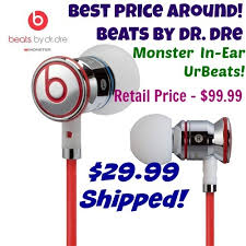 best black friday deals on beats by dre headphones beats by dr dre in ear headphones only 29 99 shipped best price