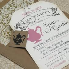 best bridal shower tea party invitations free templates