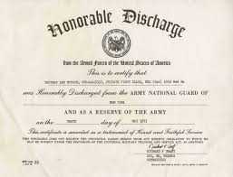 honorable discharge certificate lot detail thurman munson s honorable discharge archive from