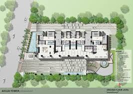 Residential Building Floor Plans Ground Floor Plan Of Residential Building