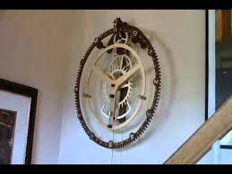 7 Free Wooden Gear Clock Plans by Wood Gear Clock 9 By Steve K Youtube
