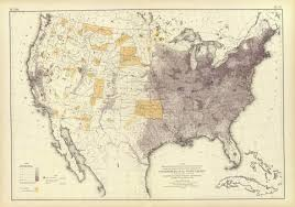 United States Population Distribution Map by The National Atlas