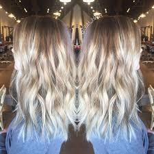 painted blonde balayage low maintenance blonde with neutral tones