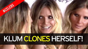 kim davis halloween mask heidi klum surrounds herself with five real life clones at her