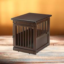 pet furniture pet storage wooden end table crate richell usa