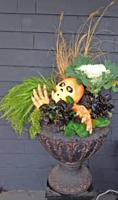 766 best halloween fall planters images on pinterest fall