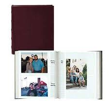 photo albums with memo area pioneer clb257 burgundy sewn leather album 5x7 200 clb257 br