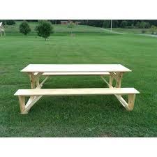 Indoor Picnic Table White Cedar Trestle Picnic Table