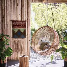 bali ball hanging rattan chair inside outside living by cielshop