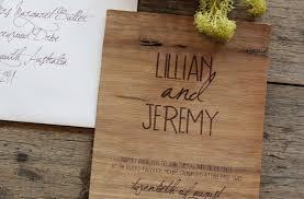 wooden wedding invitations wood wedding invitation earthy calligraphy