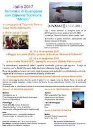 libreria esoterica cesenatico seminario di guarigione con capanna sudatoria matato italia 2017