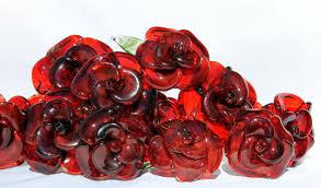 glass roses dozen glass roses stemmed 12 blown glass flower forever