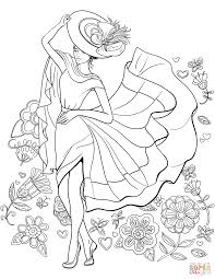 Lady Pin Up Coloring Page Free Printable Coloring Pages Pin Up Coloring Pages