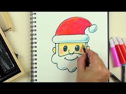 how to draw emoji santa with kiddy color 126 pieces art kit step