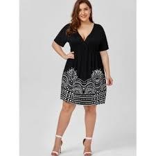 low cut empire waist plus size a line dress white black xl in