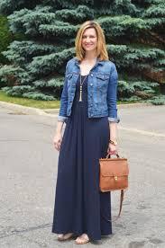 dresses and denim jackets