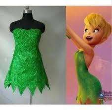 Pixie Halloween Costumes Fairy Tinker Bell Cosplay Tinkerbell Dress Green Pixie Dress