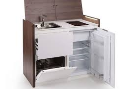 stand alone kitchen sink unit compact all in one kitchen unit hides stove fridge and