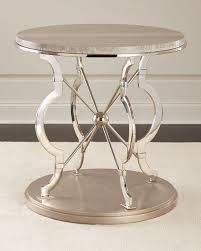round chrome side table chrome finish round silver side table house dining room