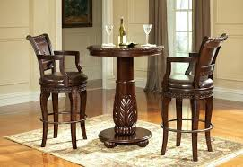 high top table legs rustic pub table sets rustic pub table set brown leather upholstered