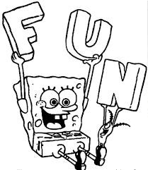 free printable spongebob squarepants coloring pages for kids in