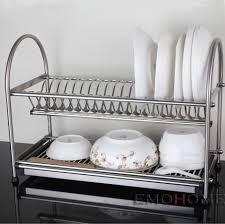 kitchen nice dish drying rack for dinnerware organizer idea