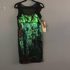 black nicole miller sequin dress on poshmark
