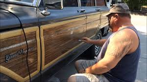 wood panel jeep wrangler removing wood grain and trim from a jeep grand wagoneer youtube