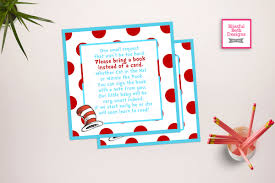 seuss book card dr seuss printable baby shower book card red and