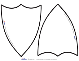 shapes clipart medieval shield pencil and in color shapes