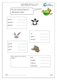 three letter animal names teaching worksheets the animals