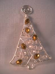 beaded wire tree ornament wire works wire