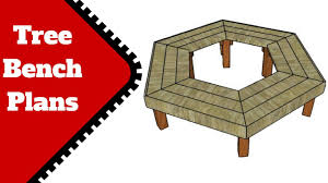 tree bench plans youtube