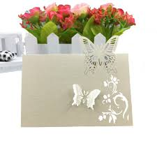 Butterfly Invitations Zljq 50pcs Table Name Card Butterfly Invitations Card For