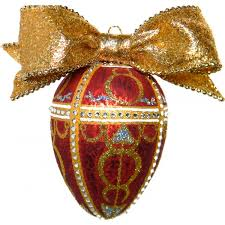 faberge imperial rosebud egg handcrafted glass ornament