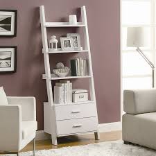 shop monarch specialties white 4 shelf bookcase at lowes com