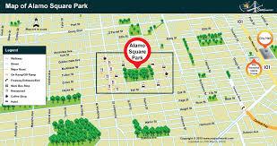 san francisco map painting alamo square park map location of alamo square park