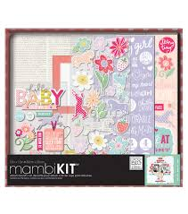 baby girl photo album me my big ideas sweet baby girl boxed album kit joann
