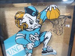 vtg unc north carolina tar heels basketball mascot game room man