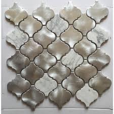 CHENX  In X  In MultiSurface Backsplash In Silver - Silver backsplash