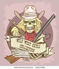 royalty free stock photos and images cowgirl u0027s skull logo design